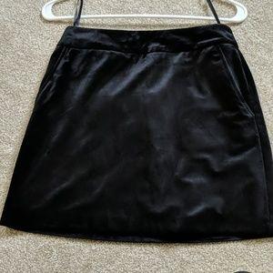 Black Velvet Skirt with Pockets